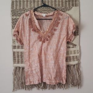 J Crew Safari Ruffled Shirt